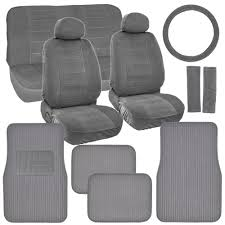 nissan micra seat covers new vintage car seat covers in gray w lined ribbed texture auto
