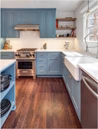 slate blue painted kitchen cabinets forever classic blue kitchen cabinets centsational style