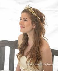 gold headpiece gold leaf crown bridal gold wedding crown woodland
