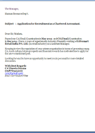 Cover Letter For Chartered Accountant Resume Cover Letter Exles Excellent Application Cover