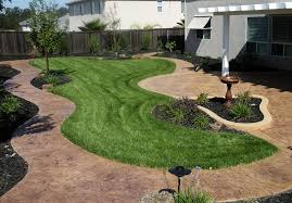 Backyard Concrete Ideas Backyard Stamped Concrete Ideas Home Design Inspirations