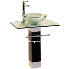 modern glass bathroom vanity ebay