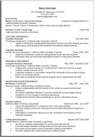 Resume Template For Graduate Students Graduate Student Cv Template Template