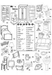english worksheet furniture 3 английский pinterest