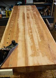 Woodworking Bench Top flattening the workbench top she works wood