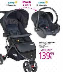 siege auto safety cora promotion pack 2 en 1 poussette avec siège auto easy go