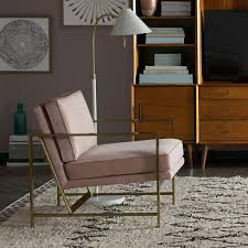 metal frame upholstered chair dusty blush west elm au 20 office