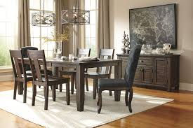 Dining Table Set With Price 7 Piece Rectangular Dining Table Set With Upholstered Chairs
