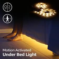 under cabinet led strip lights kit led bed light kit motion activated 2 5ft flexible strip lights