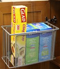 Cabinet Door Basket Cabinet Door Organizer Food Wrap Holder Bathroom Kitchen Item