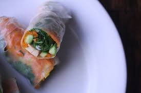 paper wraps fresh summer rolls with tofu vegetarian
