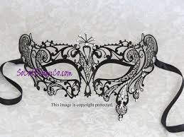 woman mask halloween masquerade masks woman black metal mask laser cut