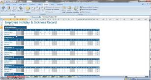 Employee Schedule Excel Template Employee Annual Leave Sickness Tracker