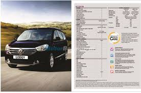 renault lodgy specifications renault lodgy features revealed india brochure inside