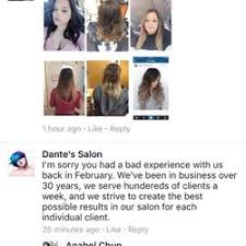 dante u0027s salon 11 reviews hair extensions 13820 old saint