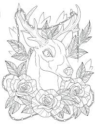 coloring pages henna art tattoos coloring pages tattoo deer page digital download henna free