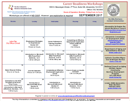 workforce development center calendar of events workforce