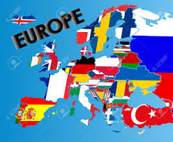 European Flags Images Flag Map Of Europe Stock Photo Picture And Royalty Free Image
