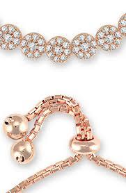 sterling silver rose gold bracelet images 925 sterling silver rose gold plated micro set multi cluster bracelet jpg