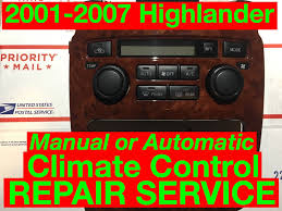 lexus rx300 heater not working climate controllers
