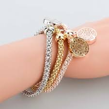 gold charm bracelet chains images Longway 2017 new fashion bracelets bangles jewelry gold color jpg