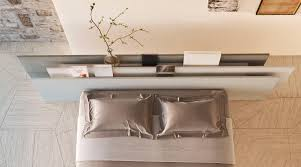 coole einrichtungsideen schlafzimmer mit modernem bett und