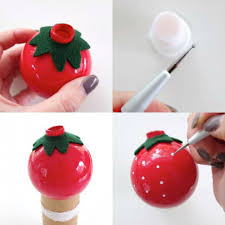 fun diy vintage inspired fruity christmas ornaments shelterness