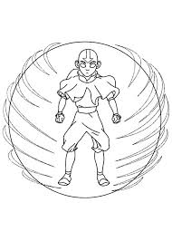 aang possessed avatar spirit coloring aang possessed