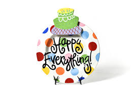 coton colors happy everything plate bright dot happy everything big platter with birthday cake big