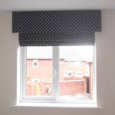 roman blind with pelmet very smart finish window furnishing