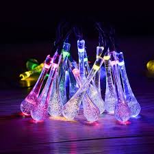 charming solar powered icicle lights part 9 20pcs x newest
