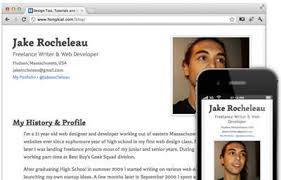 high school web design class coding a responsive resume in html5 css3 hongkiat