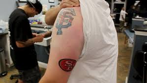 a bay area tattoo shop is offering 49ers tattoos for 49 field