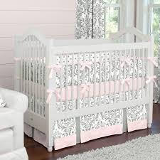 Crib Beddings Sets Pink And Gray Traditions 3 Crib Bedding Set Carousel Designs