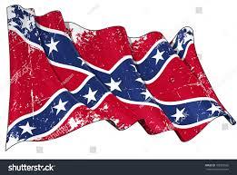 New Rebel Flag Confederate Rebel Flag Scratched Stock Illustration 108352502