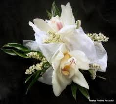 White Orchid Corsage Fortino U0027s Flowers And Gifts Cymbidium Orchid Corsage