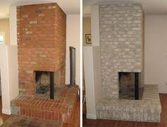 Whitewashing A Fireplace by How To Whitewash A Dated Brick Fireplace Update Your Contractor