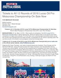 lucas oil pro motocross schedule tickets to all 12 rounds of 2016 lucas oil pro mx championship on