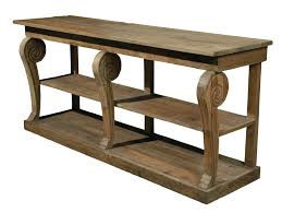 Reclaimed Wood Console Table Old Wood Console Table With Storage For Small Hallway Spaces Made
