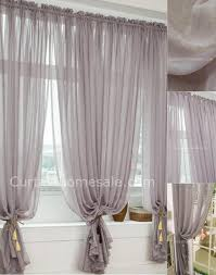 Patterned Sheer Curtains Heavy Patterned Grey Polyester Bedroom Printed Sheer Curtain