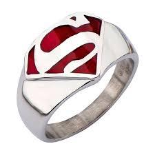 superman wedding ring superman steel ring of steel logo ring ragebear
