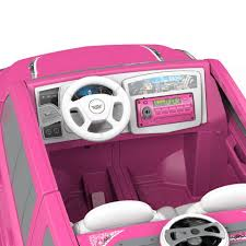 real barbie cars power wheels barbie cadillac escalade 12 volt ride on pink