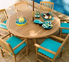 Teakwood Patio Furniture Oxford Garden Round Shorea Outdoor Teak Wood Dining Table