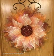 mesh wreaths how to make a flower deco mesh wreath grillo designs