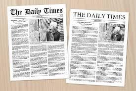 sample blank newspaper newspaper article template newspaper article template pdf format