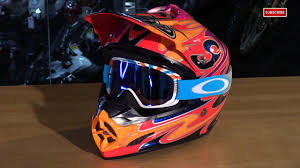 motocross helmets with goggles oakley o2 mx goggles review video gallery