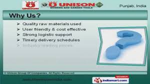 industrial mowers by unison group of companies jalandhar youtube