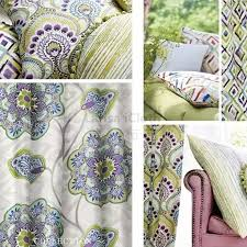 deluxe printed colourful damask sofa chair armchair pillow