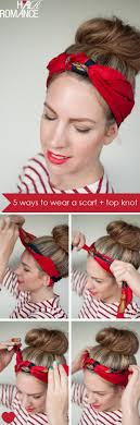 knotted headband 5 ways to wear a scarf and a top knot 3 knot headband hair