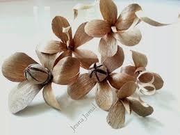 wood flowers diy wood flower step by steptutorial chilli